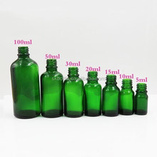 e liquid glass dropper bottle green glass bottle cosmetic glass bottle with white childproof cap 5ml 10ml 15ml 20ml 30ml 50 ml
