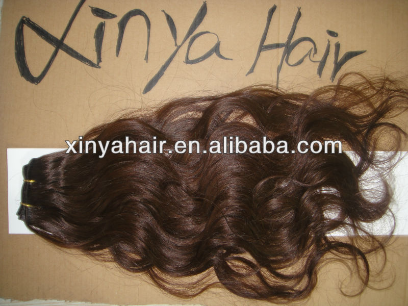 Unprocessed good quality 100% virgin indian hair braids on weft