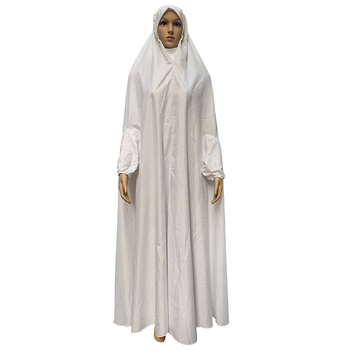 2017 muslim white color abaya women dress turkish islamic clothing wholesale