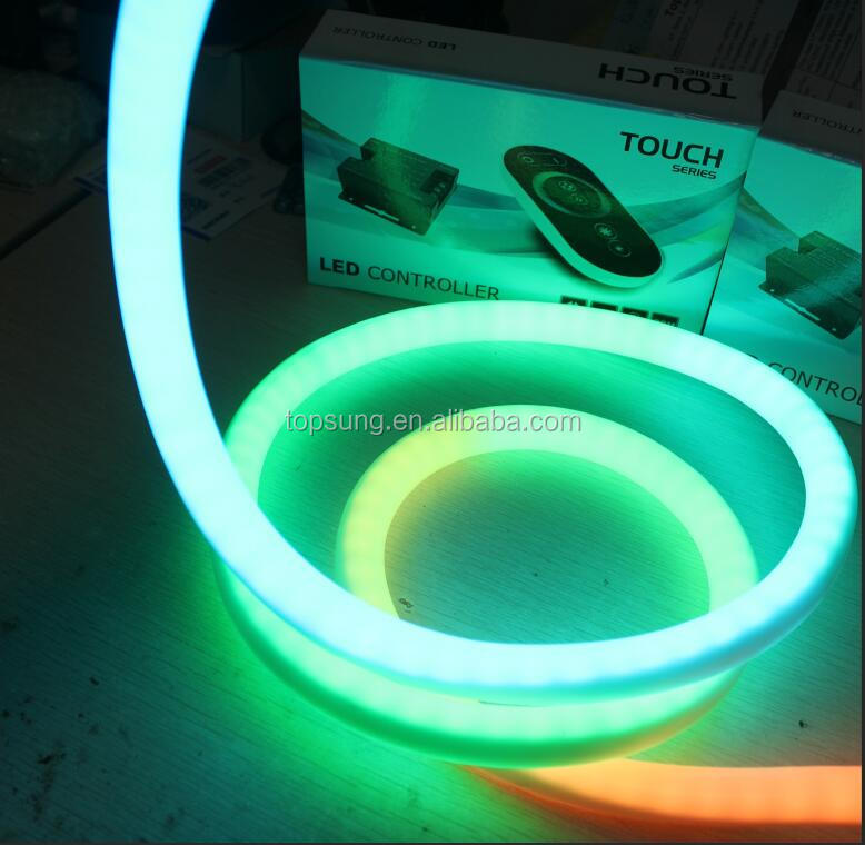 100m roll 24v digital rgbw led neon flex 18mm round