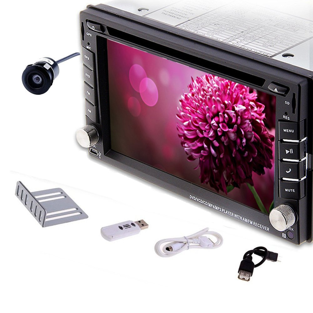 Christmas Sale!!! Player Pupug 2 Din Car VCD GPS Navigation 3G Internet Rear Camera Head Unit Vehicle DVD Player In Dash Radio RDS Stereo Video Electronics Double 2 DIN MP3 Auto Radio vw RDS L