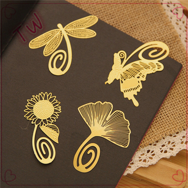 custom <strong>Arts</strong> and crafts magnetic bookmark ,gold plated metal flower bookmark blank,popular metal animal bookmark