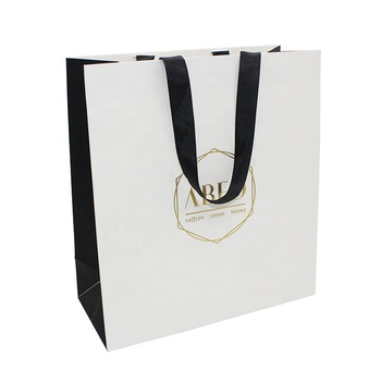 Cheap wholesale custom black solid color paper bag shopping gift paper bags printing