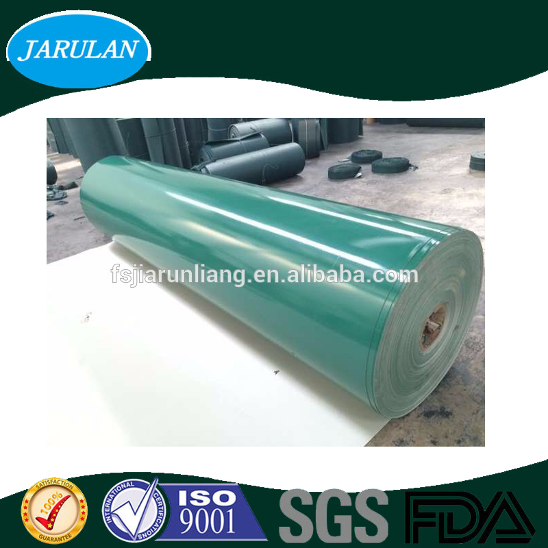 customized none distortion glazed top PVC belt for curved guide machine