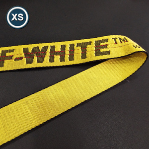 high quality custom logo polyester jacquard elastic narrow webbing belts