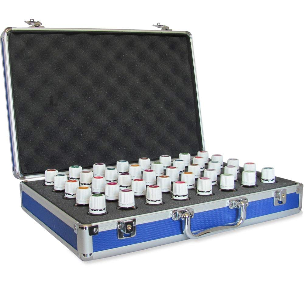 40 Bottle Essential Oil Carrying <strong>Case</strong> Perfect for Travel Display Empty <strong>Hard</strong> Aluminum Storage <strong>Case</strong>