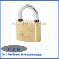 Top Quality Square Shape Chrome Plated Vane Iron Padlock