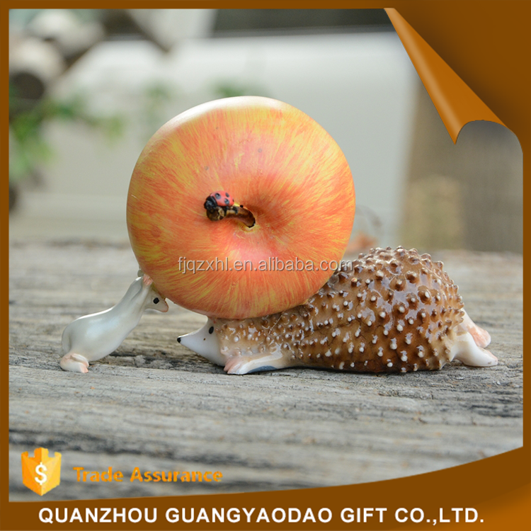 Buy direct from china wholesale hedgehog resin animal gift and <strong>craft</strong>