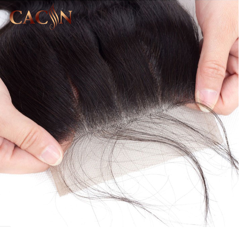 CACIN hair products cuticle aligned hair raw hair highlighted closure