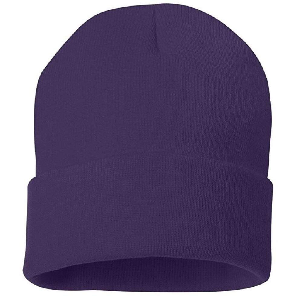 6e44bb586c2269 Get Quotations · Solid Purple Watch Stocking Cap Beanie Winter Stocking Hat  Knit Cold Weather