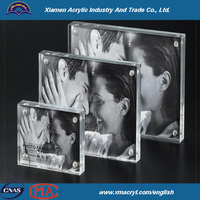 Acrylic Magnetic Block photo Frames 4x4 4x6 5x7 8x10 8.5x11