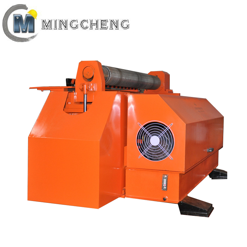 Stainless steel 2 roller plate iron bending rolling machine for oil cylinder