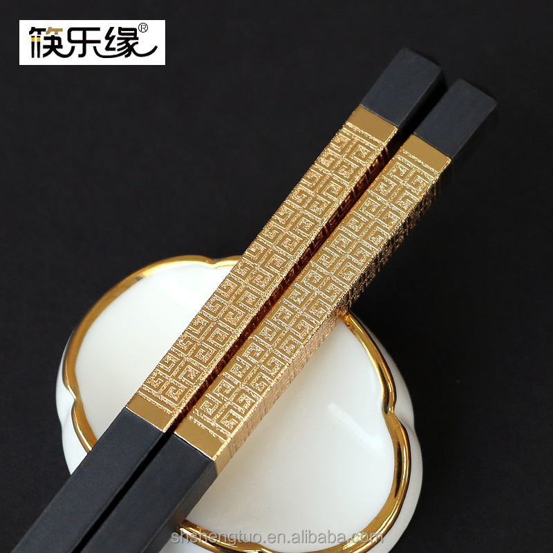 wedding favors alloy chopsticks with OEM logo