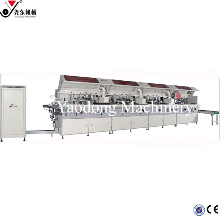 4 color automatic cylindrical silk screen printing machine used for bottles