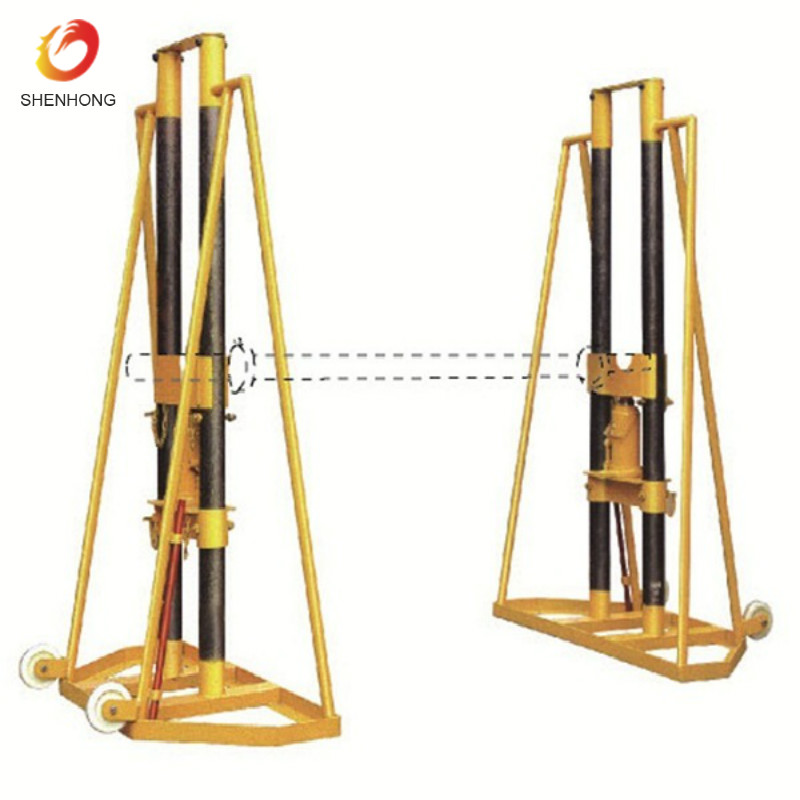 5 Ton/10 Ton Hydraulic Cable Drum Stand/Cable Jack Stand