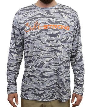 Fashion design mens grey camo long sleeve t shirt outdoor for Dri fit fishing shirts