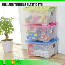 25 L ECO-Friendly PP clear Plastic rolling storage box with lock 261