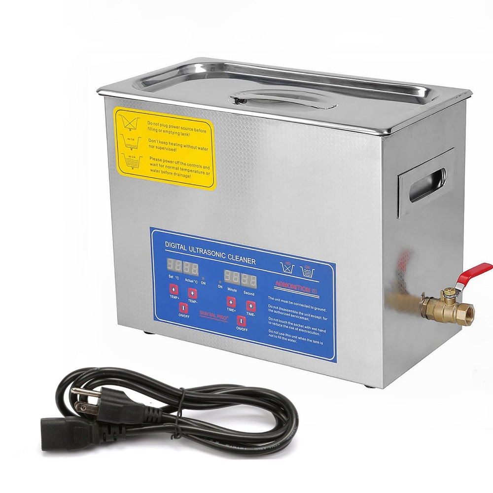 Low Price 6 Liter Stainless Steel Digital Ultrasonic Cleaner Medical and Dental Clinics, Metal material Cleaning