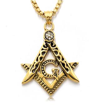 Golden hip hop freemason masonic necklaces men women bling compass g golden hip hop freemason masonic necklaces men women bling compass g pendants crystal jewelry hg aloadofball Image collections