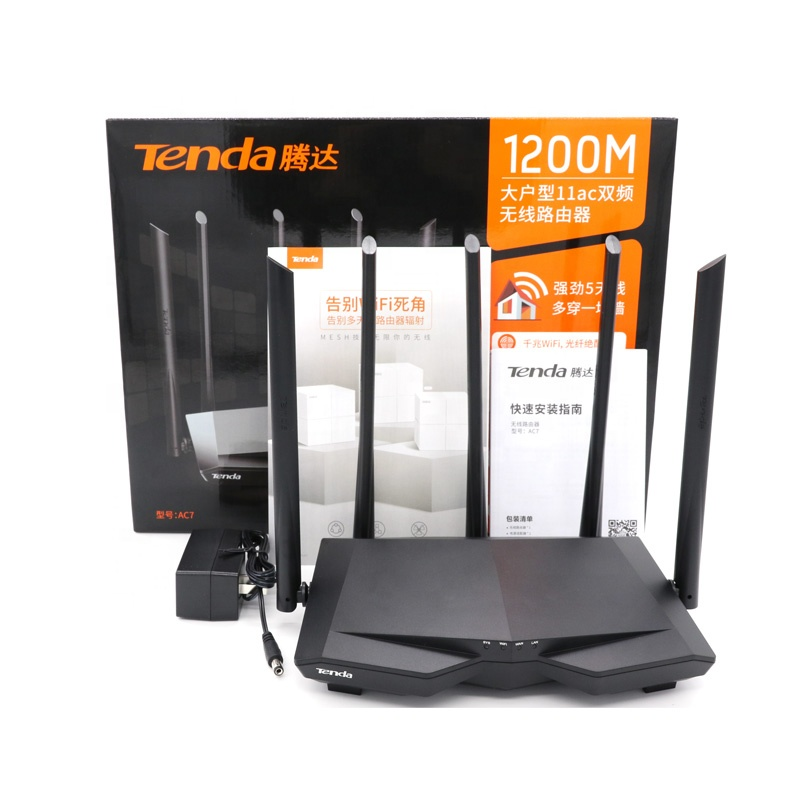Tenda AC7 wireless repeater mbps home gigabit dual home coverage band AC1200M high quality 5ghz mbps easy set up wifi router