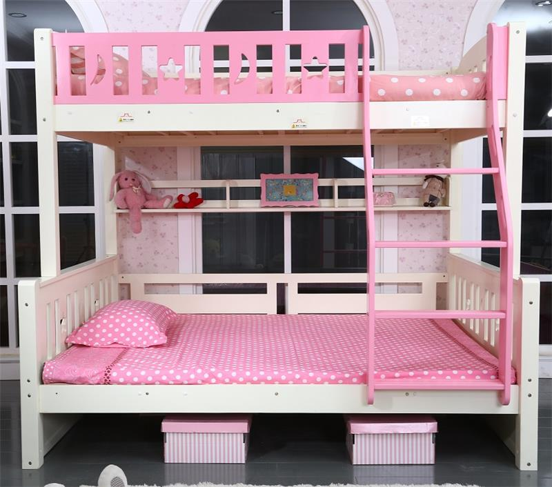 Comfortable large kids solid wood cheap queen size <strong>beds</strong> wooden bunk <strong>bed</strong> for children