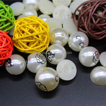 Fashion pony beads wholesale plastic pearl beads emoji beads