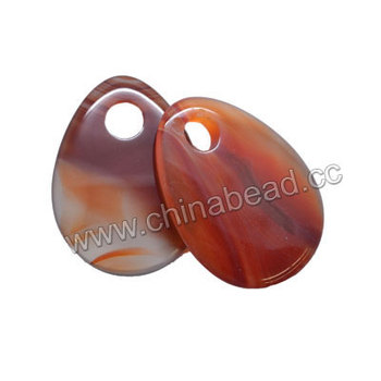Wholesale flat stone pendants natural red agate pendant