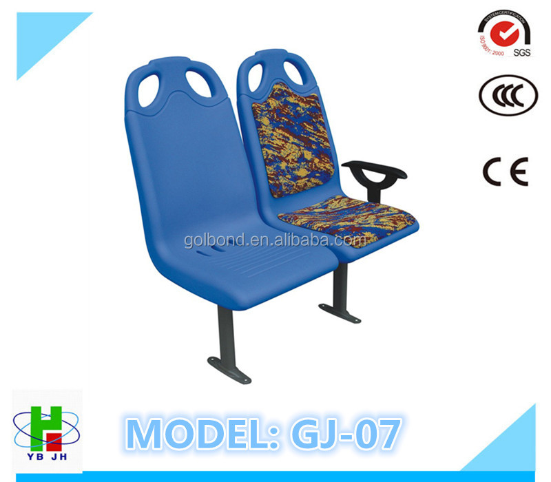public strong plastic blow molded bus seat manufacturer