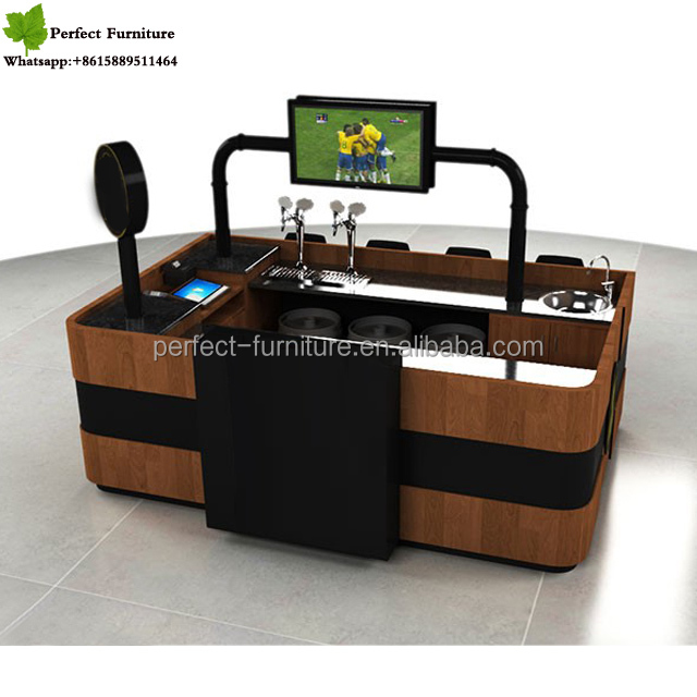 Sale Mobile Coffee Cart Kiosk With Fancy 3d Max Design