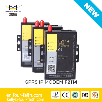 F2114 Industrial Powerline Communication Plc Modbus Modem With Rs232 Rs485  Serial Port - Buy Gprs Modem With Serial Port,Industrial Gprs Modem,Gsm