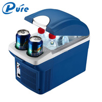 8L Mini Portable Car Refrigerator Custom Mini Fridge 12V Voltage Home-use DC 12-220V Car-use Dual-use Fridge