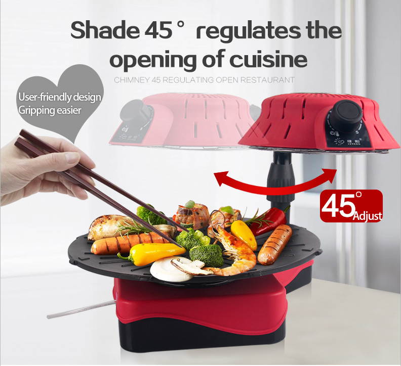 2015 new table portable electric infrared barbecue grill no any smoke as electric rotary chicken grill machine