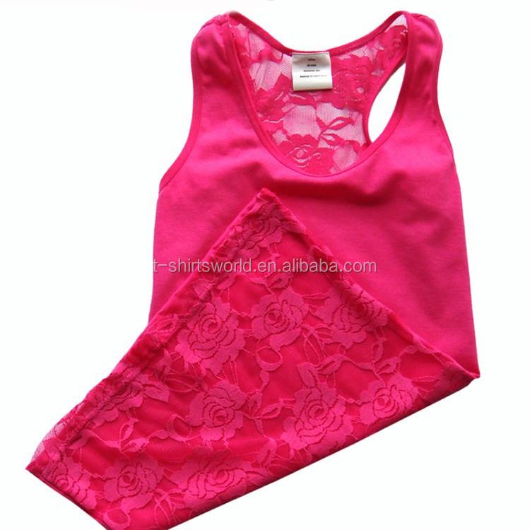 Sexy Ladies Summer Underwear Spandex Lace Vest With Side Seam ...