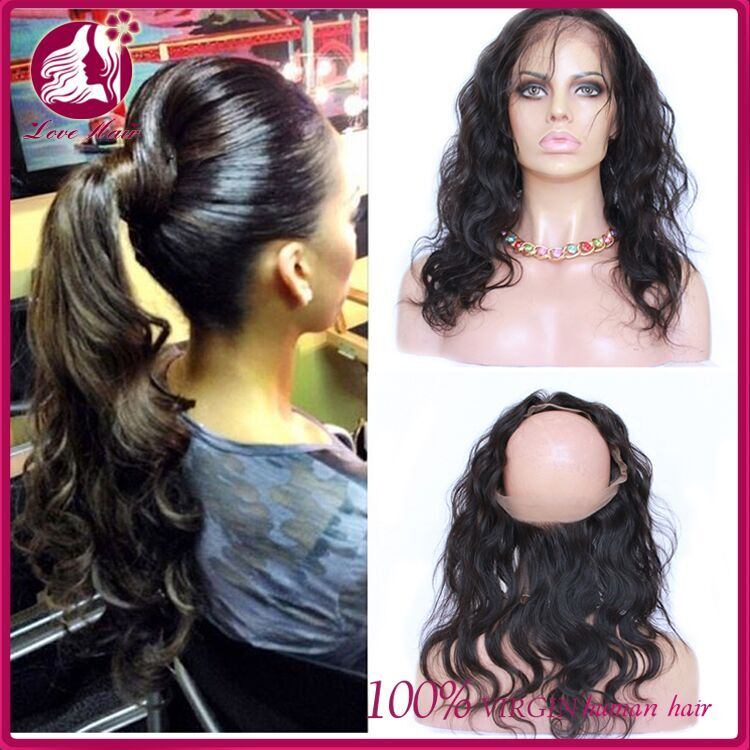 "10a Malaysia Virgin Human Hair 360 Degree Lace Frontal Closure With Adjustable Strap 22""x4""x2"" Body Wave Full Lace Band Frontals"