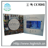 "Customized 7"" LCD digital video greeting card /business video card/Video story book with Memory"