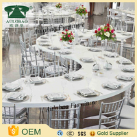 Different shape high gloss mdf cheap dining table sets