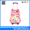 High quality best selling pink color wheel backpack trolley backpack bag for school kids primary