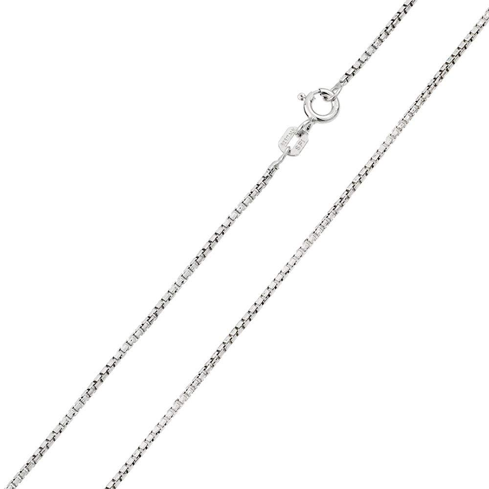 CloseoutWarehouse Yellow Gold-Tone Plated Sterling Silver Box Chains 0.8mm