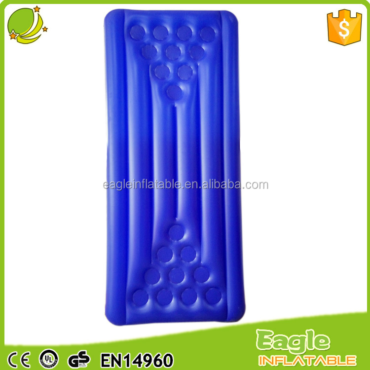 top quality ce certificate thickness 0.3mm pvc inflatable float with cup holder