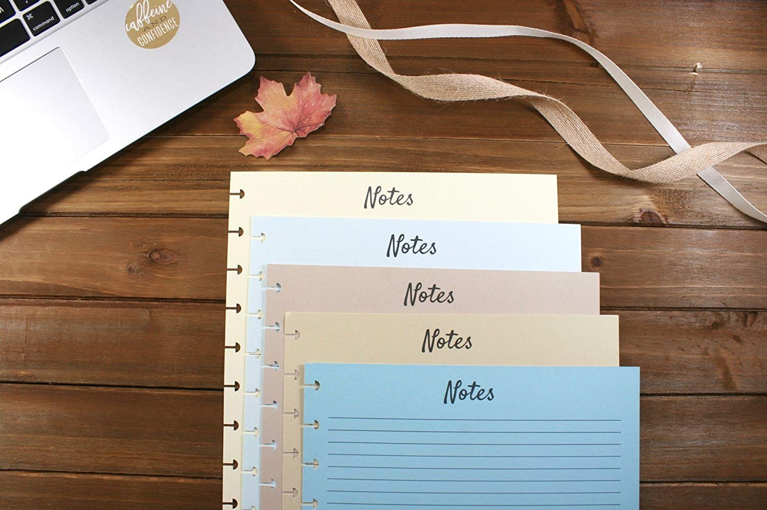 The Big Happy Planner Colored Refill Pages Beach Vibes, Big Happy Planner Notes Refills, Pre-punched Happy Planner Inserts, Pre-punched Notes Refills