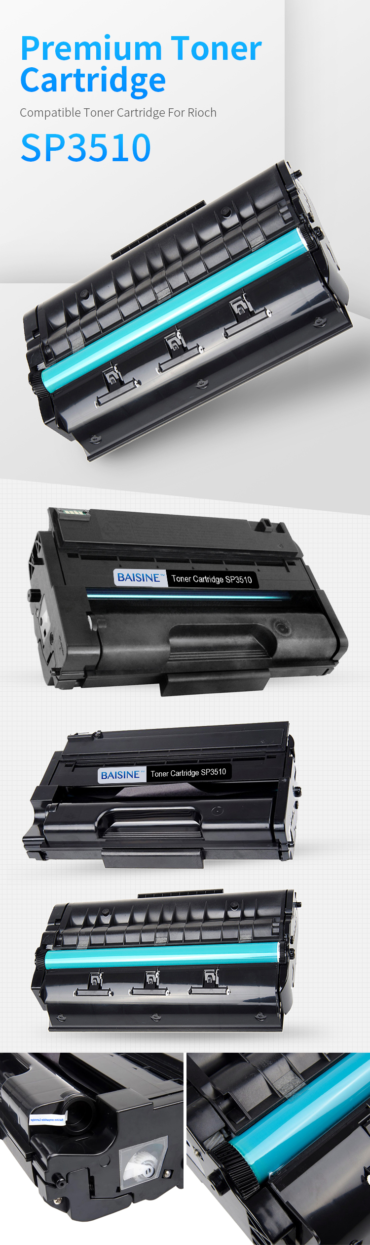 China Best Price premium Toner Cartridge SP3510 406989 3400SF 3410DN 3410SF SP3500 SP3510 Laser Printer Toner Cartridge 406989