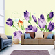 Eco-friendly matte adhesive polyester canvas fabric 320gsm self adhesive wall decoration sticker