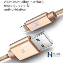 Hign quatity knit wire Type C smart fast charging data cable for iphone 5 6 6s 7 plus for Android for Samsung