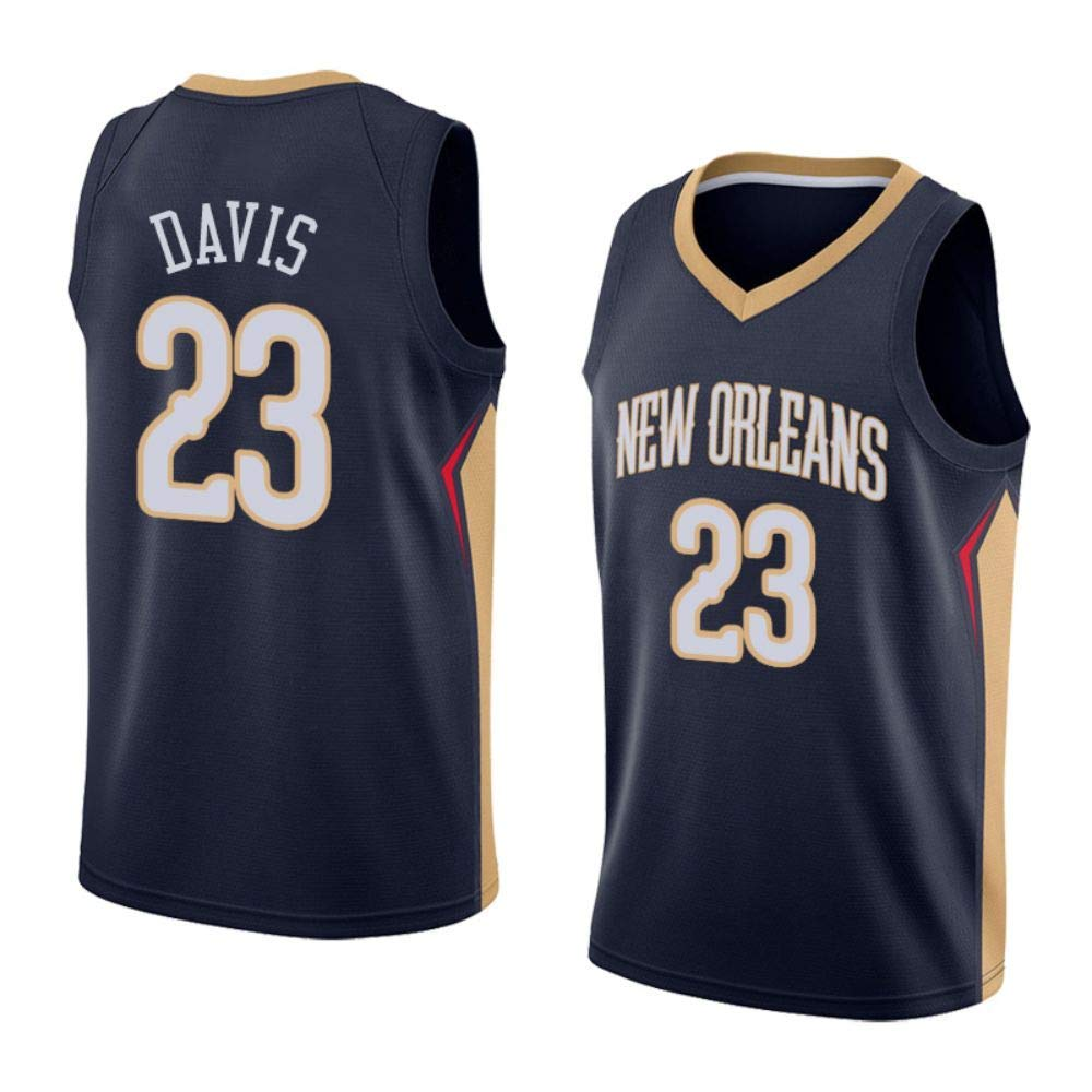 297f51db0b9 Get Quotations · WOola New Orleans Pelicans #23 Davis Men's Basketball  Jerseys Black