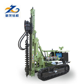 photovoltaic steel pile driving pile driver for solar installation