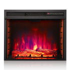 3 color flame 40quot wall mounted imitation fire wood fireplace with remote control