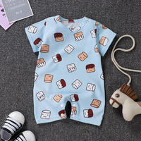 Factory price 100% cotton one-piece jumpsuit cartoon newborn baby romper