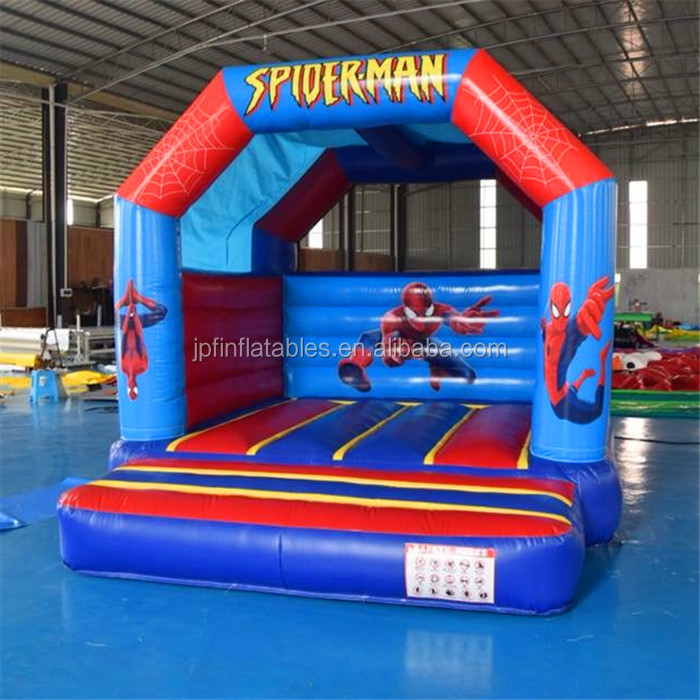 2019 customized design spiderman inflatable bounce house for sale