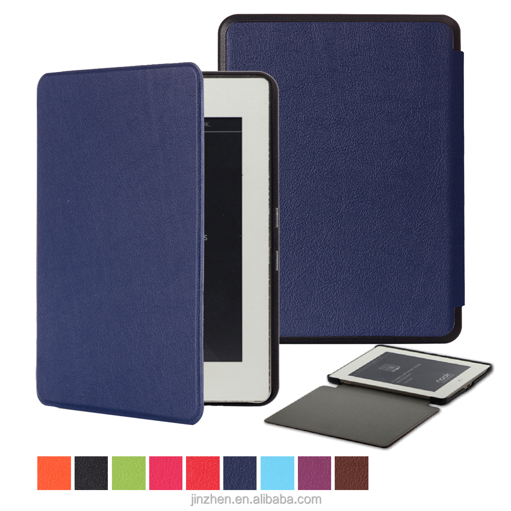 PU Folio cover up tablet cases for nook glowlight Plus 6 inch tablet case