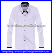 wholesale 100% cotton long sleeve white bank uniforms formal shirts